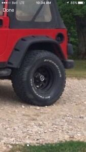 Jeep tj 33 inch tires and rims