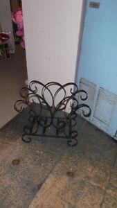 Vintage Industrial Metal Iron Folding Cart Magazine Stand Stools London Ontario image 8