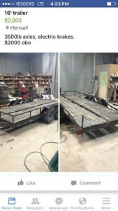 16 ft trailer Electric brakes 3500 lbs axles