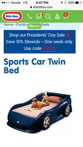 Twin size car bed