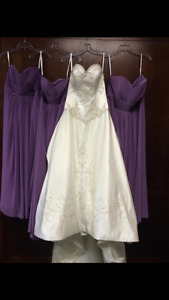 Wedding dress with Vail 200$