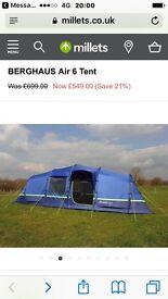 Berghaus 6 person air tent