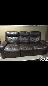 Leather couch/sofa