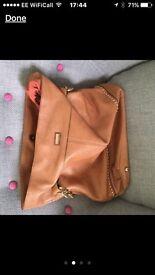 Soft leather handbag...Guess