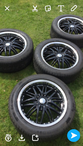 """18"""" Ultra Rims and Uniroyal Tigerpaw tires"""