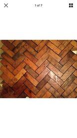Reclaimed hard wood parquet flooring
