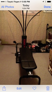 Bowflex w/ training video and exercise manual.