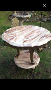 Marble like end table