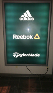 Advertising aluminum framed backlit indoor signs