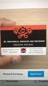 B.C mechanical services and recovery 24hr mobile mechanics