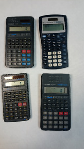 4 Beautiful, Like NEW Calculators - $5.00 each or $18.00 for all