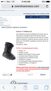 Neos over the shoe boot for ice or difficult condition