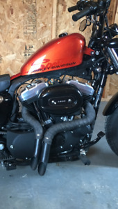 Harley sportster LAF drag pipes
