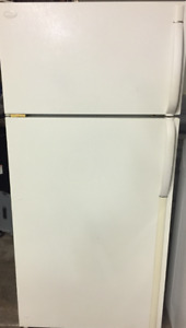 "Frigidaire refrigerator & 30"" Hot Point Electric stove package."