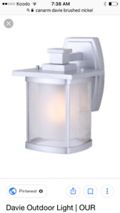Exterior porch lights, 4 new in box