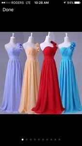 New and Lightly Used Prim Gowns