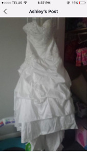 For sale wedding dress size 14 to 16 brand new