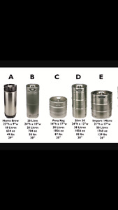 Beer kegs