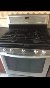 Maytag gas range stainless steel with hood