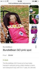 Bundle bean go cosy waterproof footmuff / sling cover