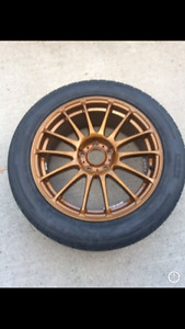 """Gold 17"""" Wheels and Tires – MINT CONDITION"""