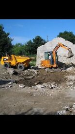 Mini digger hire with operative