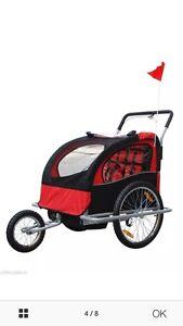 NEUF   Chariot/poussette/remorque pour 2 enfants