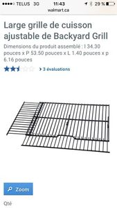 Large grille de cuisson ajustable Backyard Grill