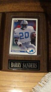 Sports cards on Plaques...ready for gifting