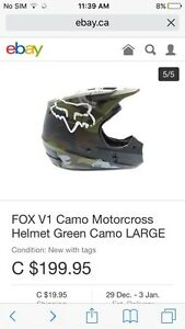 Fox V1 camo helmet never been worn
