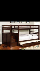 Bunk bed single over double with trundle mattresses included
