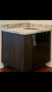 Granite Sink with cabinet