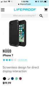 Life Proof iPhone 7 Nüüd case - waterproof -brand new in box