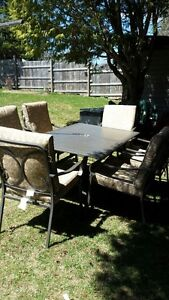Patio Table and Six Chairs