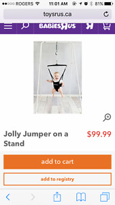 jolly jumper on stand
