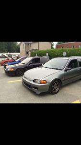 1991 Honda Civic rhd recherche échange