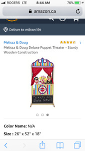 Puppet theatre by Melissa and Doug brand new in box