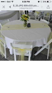 Wedding / Party Chair Sashes and Table Runners
