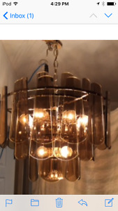 brass and glass chandeliers