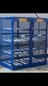 Custom built propane safety cages!