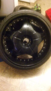 24inch rims.tires are 90%(trade or $