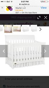3-in-1 white graco crib