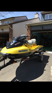 2004 Seadoo Supercharged GTX with Trailer