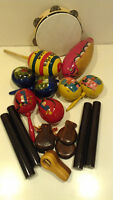 Various percussion instruments for kids