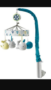 Crib mobile - plays music - whales