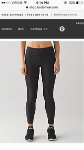Lululemon Black Sleet Sprinter Tight NWT Size 4- $120 OBO