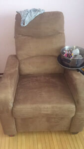 Reclining chair and love seat.