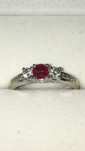 Ruby & Diamond White Gold Ring