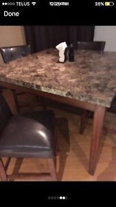Bar too high top granite dining room table  Cambridge Kitchener Area image 3