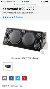 Kenwood subwoofer box designed for Camaro/Firebird